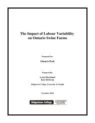 The Impact of Labour Variability on Ontario Swine Farms