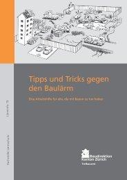 Tipps und Tricks gegen den Baulärm - Eine Arbeitshilfe für alle, die ...