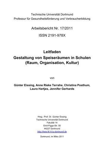 Leitfaden zur Gestaltung von Speiseräumen in Schulen - TU Dortmund