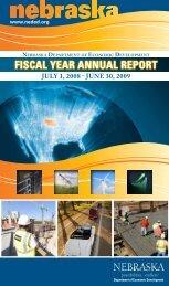 2009 Annual Report - Nebraska Department of Economic ...