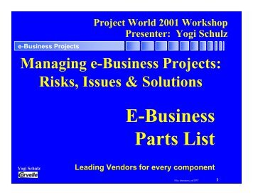e-Business Projects - Corvelle Consulting