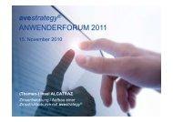 avestrategy® ANWENDERFORUM 2011 - BBT GmbH