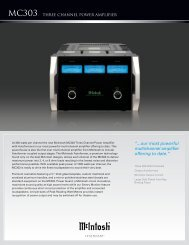 """...our most powerful multichannel amplifier offering to date."" - McIntosh"