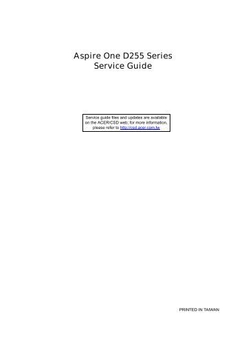 Aspire One D255 Series_SG - Acer Support