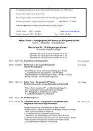 Intensivkurs der urogynäkologischen Sonographie mit ... - AGUB