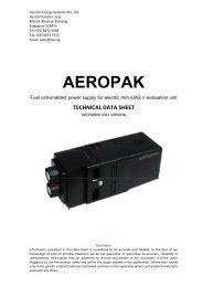 Technical Data Sheet - Horizon Energy Systems