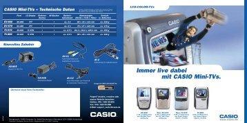 CASIO Mini-TVs - Taschenfernseher
