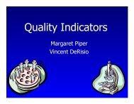 Developers of Quality Indicators