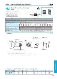 LARGE ALUMINUM ELECTROLYTIC CAPACITORS