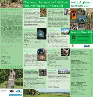 Flyer Archäologietour Nordeifel - Taubenschlag