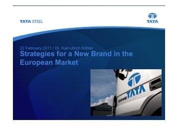 Strategies for a New Brand in the European Market - Tata Steel