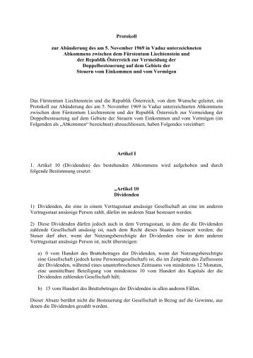 Protokoll zum Doppelbesteuerungsabkommen