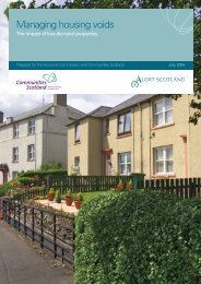 Managing housing voids (PDF | 695 KB)Opens in ... - Audit Scotland