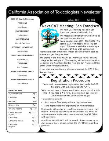 CAT Survey - California Association of Toxicologists