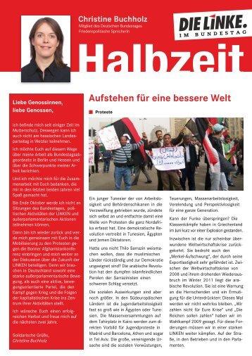 Aufstehen für eine bessere Welt - Christine Buchholz