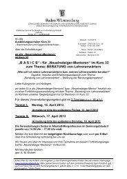"""""""BASICS"""" - für """"Neueinsteiger-Mentoren"""" - Staatliches Seminar ..."""