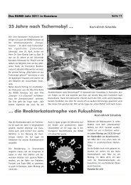 Jahresbericht 2011 Teil 2 - BUND Konstanz