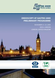 endoscopy at gastro 2009 preliminary programme - OMED: World ...