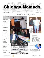 September 2009 - Chicago Nomads Ski Club