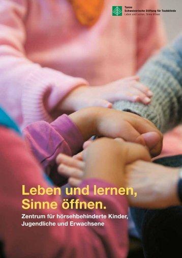 Leben und Lernen, Sinne öffnen.» (PDF) - Tanne