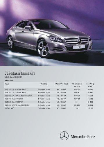 CLS-klassi hinnakiri - Silberauto