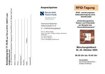 RFID-Tagung - Hochschule Niederrhein