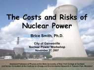 The Costs and Risks of Nuclear Power - Gainesville Regional Utilities