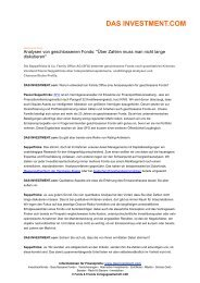 Analysen von geschlossenen Fonds - Seppelfricke & Co. Family ...