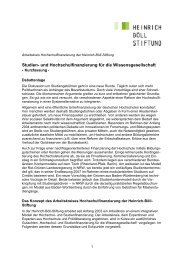 Studien- und Hochschulfinanzierung für die Wissensgesellschaft