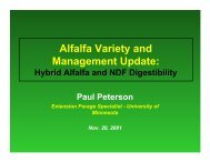 Alfalfa Variety and Management Update: - Department of Agronomy ...