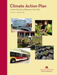 Climate Action Plan for the University of Minnesota, Twin Cities