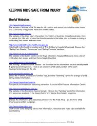 Keeping Kids Safe from Injury Useful Website Directory