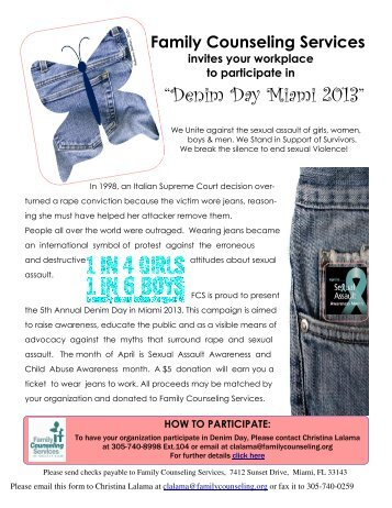 Denim Day Fliers 2013 - Family Counseling Services of Greater Miami