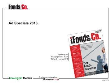 Ad Specials 2013 - Fonds & Co