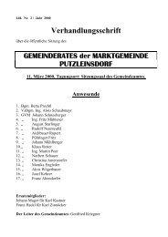 2. Sitzung (126 KB) - .PDF - Marktgemeinde Putzleinsdorf