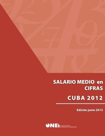 Salario Medio en Cifras Cuba 2012