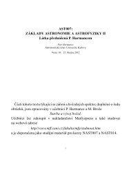 ZA´KLADY ASTRONOMIE A ASTROFYZIKY II Látka prednášená P ...