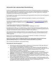 Unterbrechbare Lieferung - Netz Burgenland