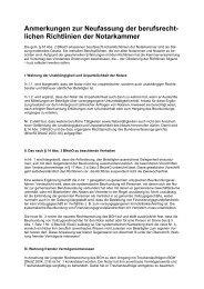 Anmerkungen zu den Richtlinien - Notarkammer