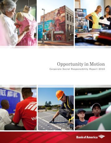 Opportunity in Motion - About Bank of America