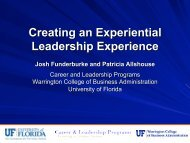 Creating an Experiential Leadership Experience - Mason School of ...