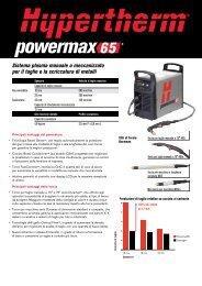 Sistema plasma manuale o meccanizzato per il ... - Macchine Taglio