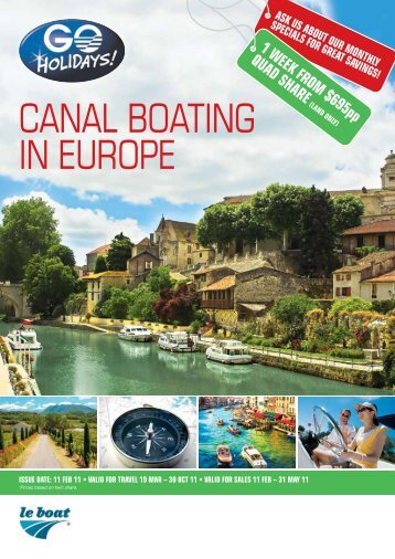 CANAL BOATING IN EUROPE