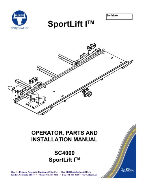 Sportlift Itm The Carrier And Lift Store