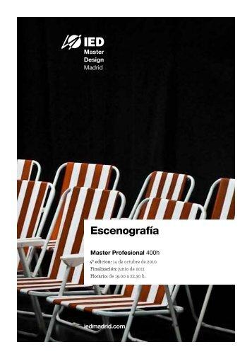 Master en Esceografía - IED Madrid