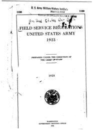 -F UNITED STATES ARMY 1923 i - CGSC