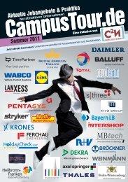 Tourhandbuch Sommer 2011 - CampusTour.de