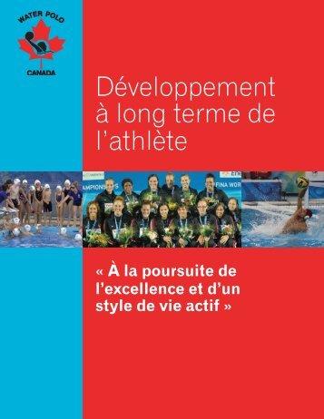 Développement à long terme de l'athlète - Water Polo Canada