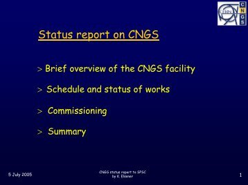 Commissioning - CNGS - CERN