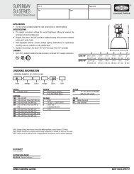 SUPERBAY SU SERIES - Hubbell Industrial Lighting